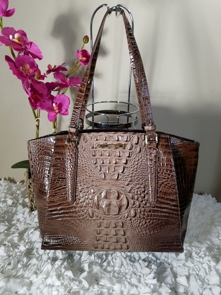 Brahmin Nutmeg Melbourne Paris Tote Taupe Bags Designer Handbags
