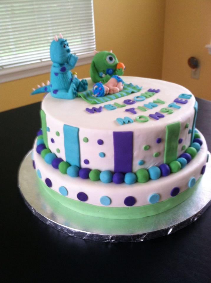 Monsters Inc Baby Shower Cake Cake Ideas Pinterest Monsters