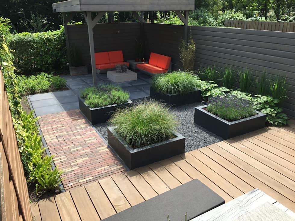 Afbeeldingsresultaat voor kleine moderne tuin garten in