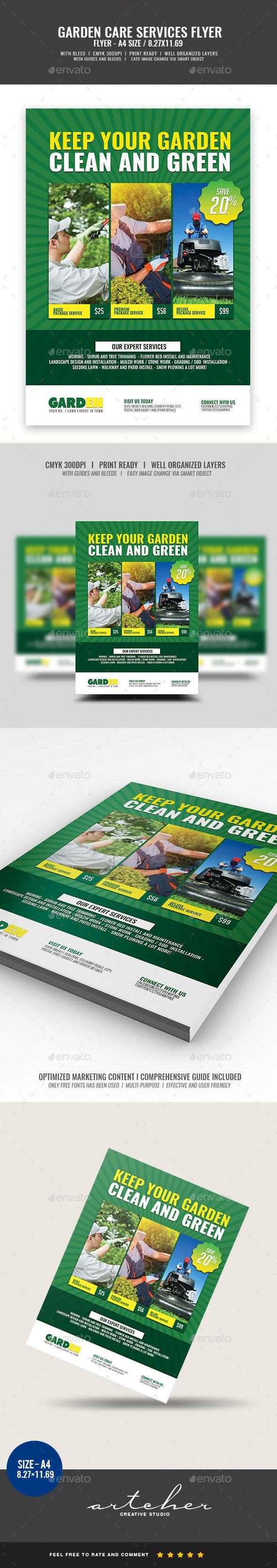 Landscaping Services Flyer V2 Pinterest Flyer Template Template