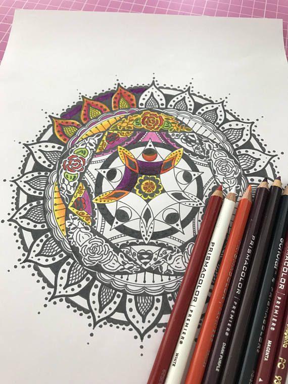 Printable Mandala Printable Coloring Page | Mandala imprimible ...