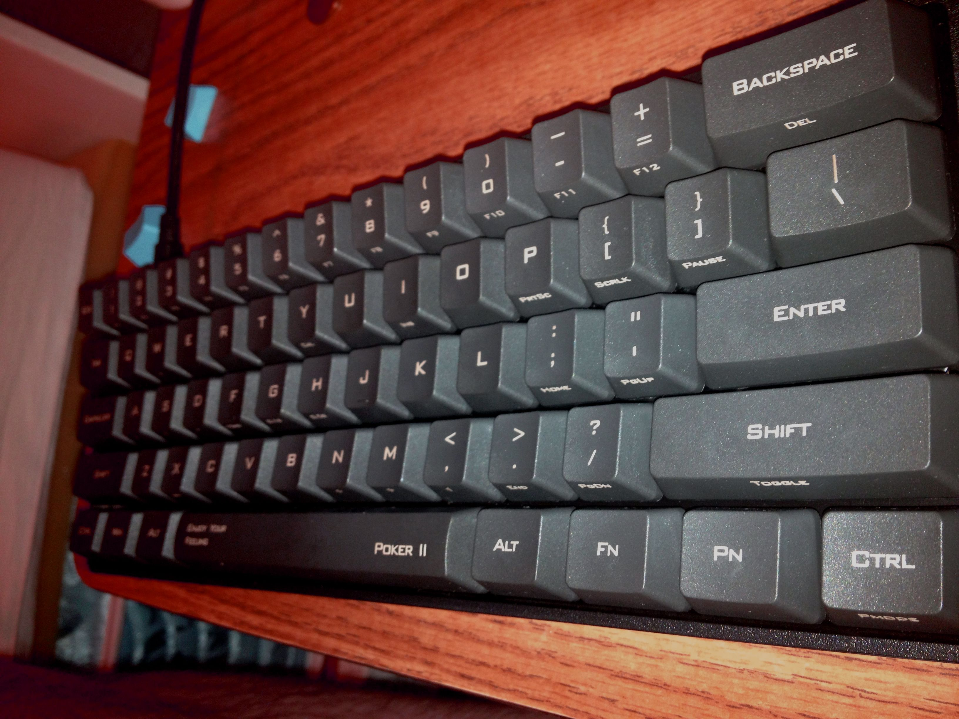 My new KBC Poker 2 with Cherry Red switches. Favorite keyboard ever.