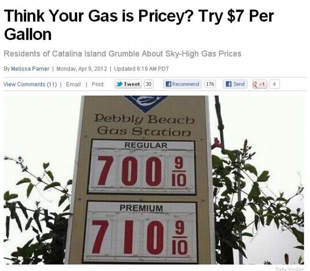Ugh This Is For Real In California This Is Truly Scary Gas Prices Catalina Island Island
