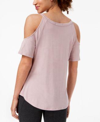 c603f36f09c6f Material Girl Active Juniors  Cold-Shoulder Graphic T-Shirt