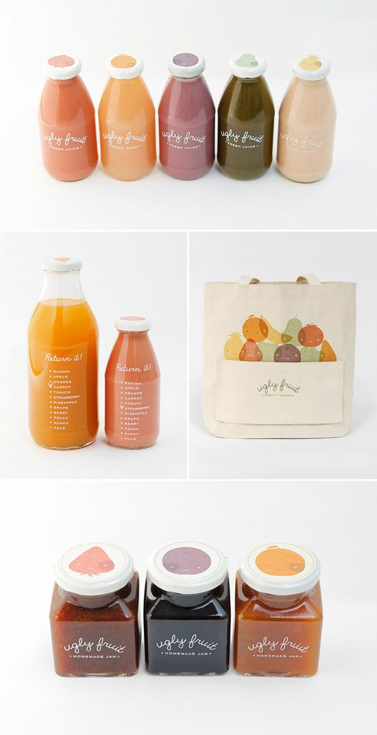 ugly fruit packaging designed by mirim seo