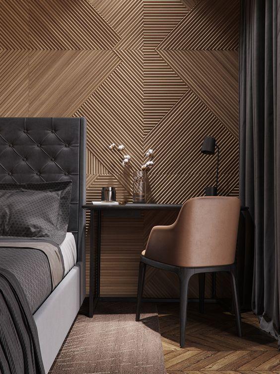 Masculine Bedroom Palette Hotel Room Design Contemporary