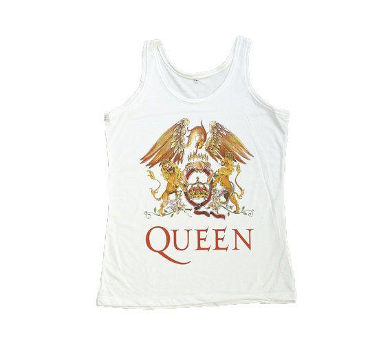7df99d76c3d92e Freddie Mercury Shirt Queen Rock Band Tank Top Women by RockerTee ...