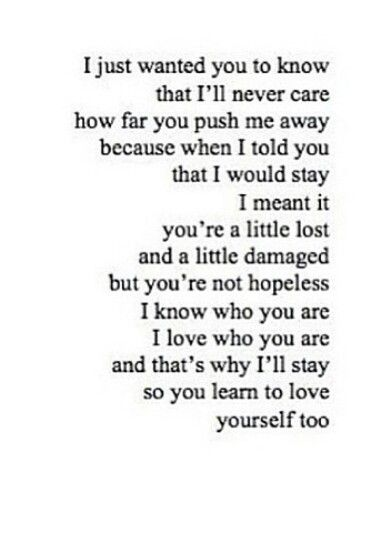 Just Want You To Know You Pushed Me Away Me Quotes Words
