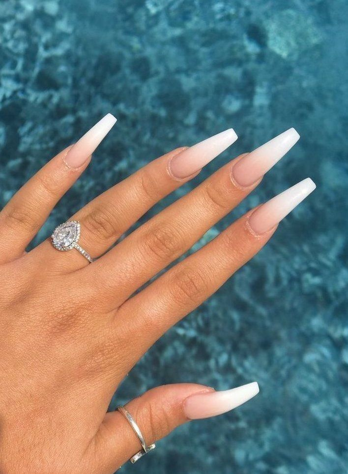The Best Press On Nails Of 2020 To Try At Home Right Now In 2020 Ombre Acrylic Nails White Acrylic Nails Pretty Acrylic Nails