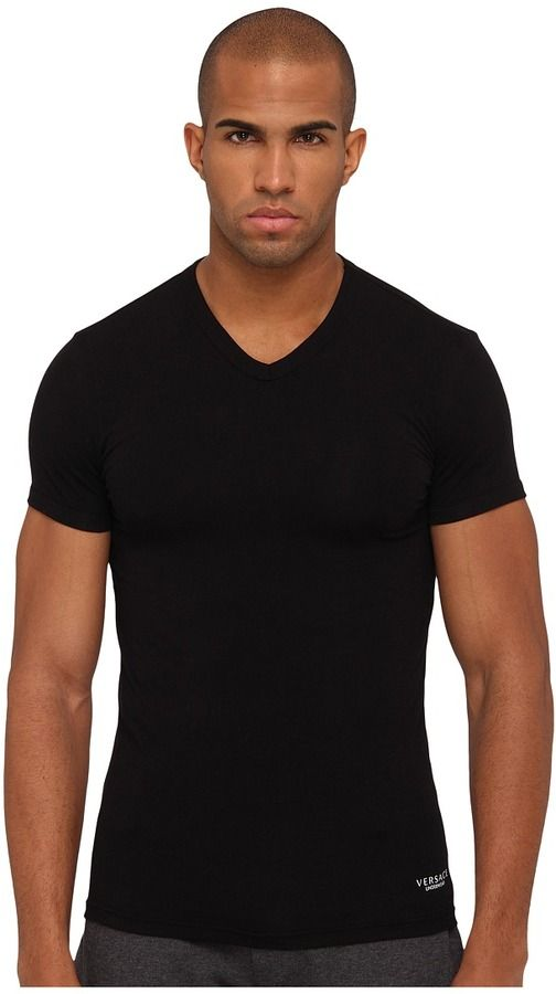 580c0bd3 Versace V-Neck Tee Men's T Shir on shopstyle.com   Things to Wear ...