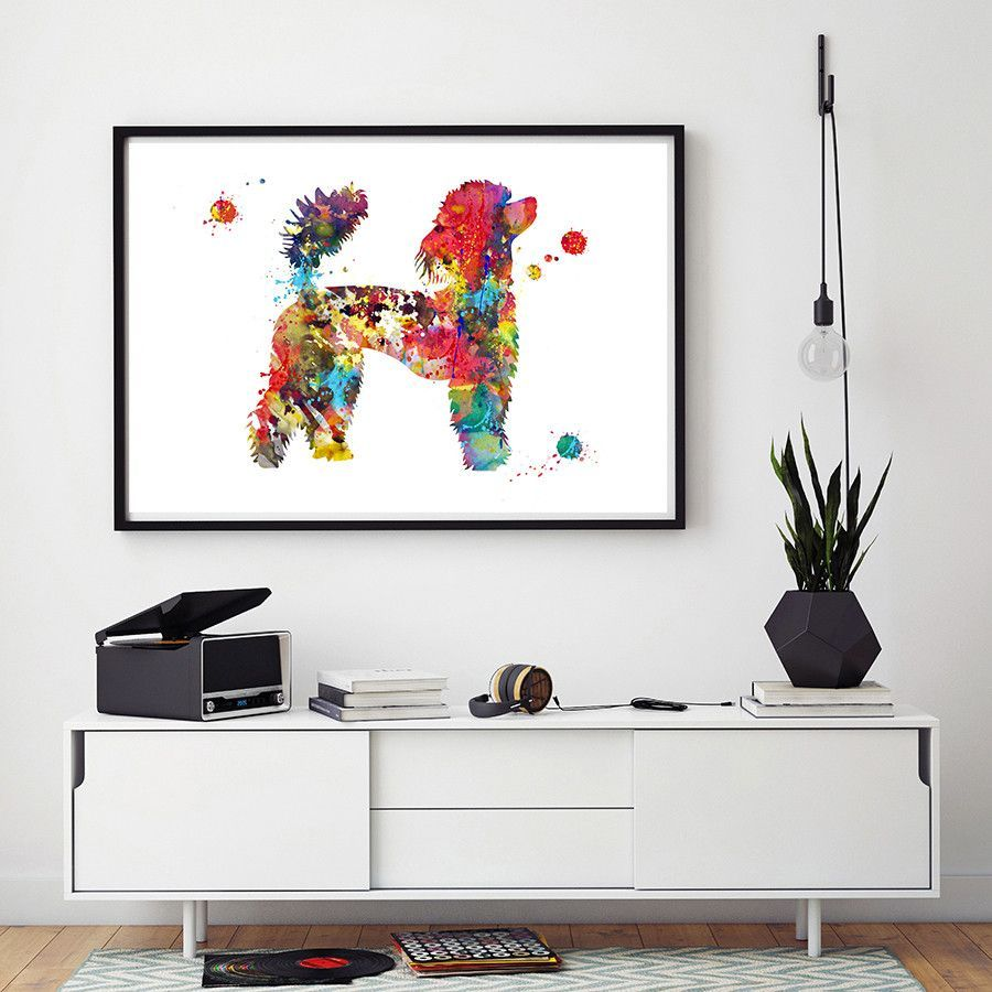 French Poodle dog watercolor print   Products by MimiPrints   Pinterest