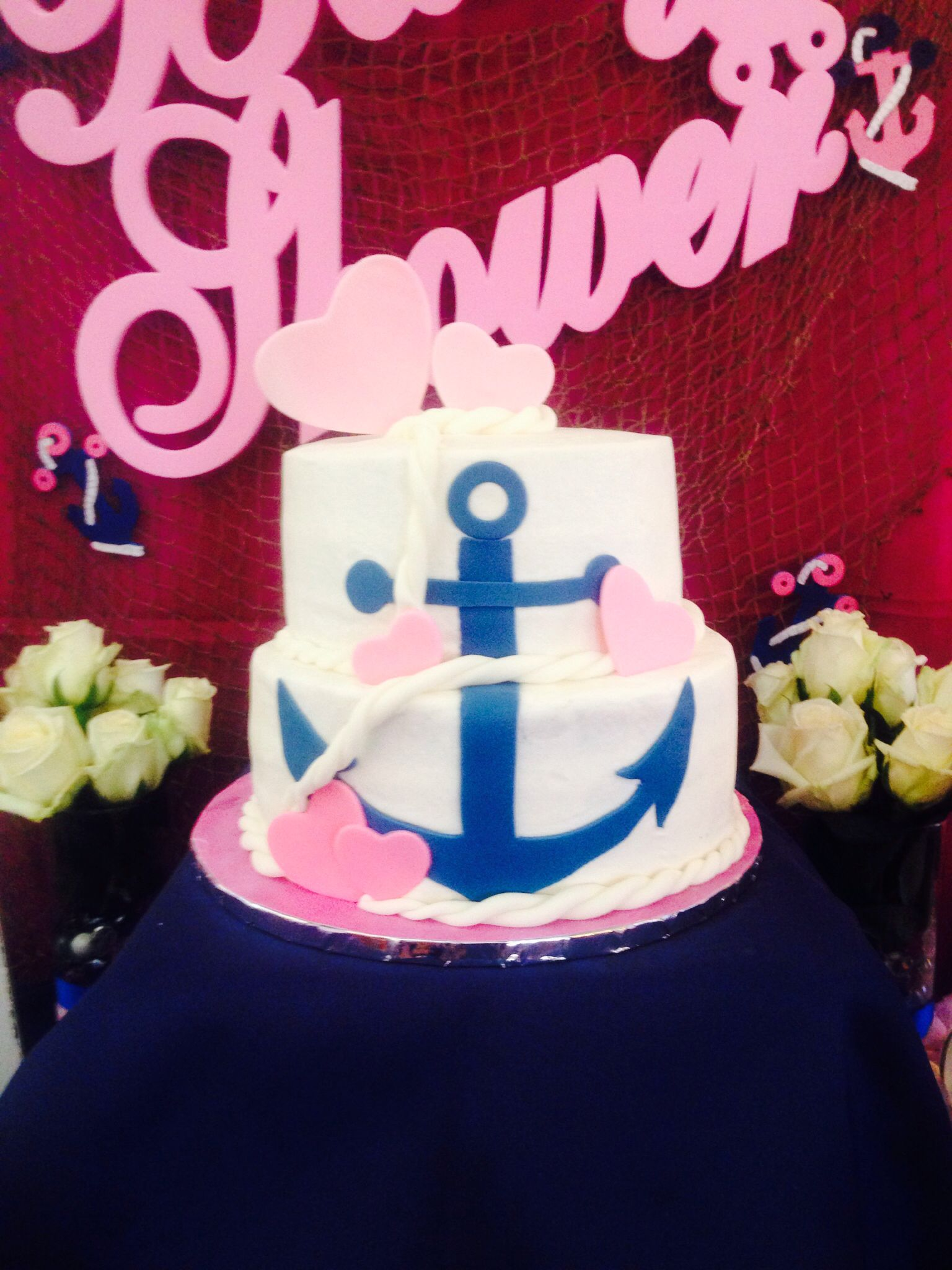 Perfect Anchor Baby Showers, Anchor Cakes, Nautical Anchor, Girl Cakes, Baby Shower  Cakes, Baby Shower, Future Baby, Pregnancy Pictures, Cake Ideas