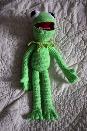 Knit Relief - Crochet Kermit the Frog Toy made ... | 440x291