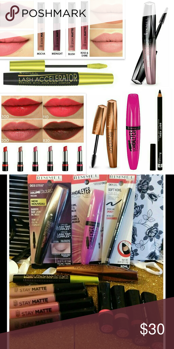 1a346a5d8a0 13x Rimmel Lot Mascara Stay Matte Liquid Lipstick Rimmel 13pcs Makeup  Bundle -Stay Matte Liquid