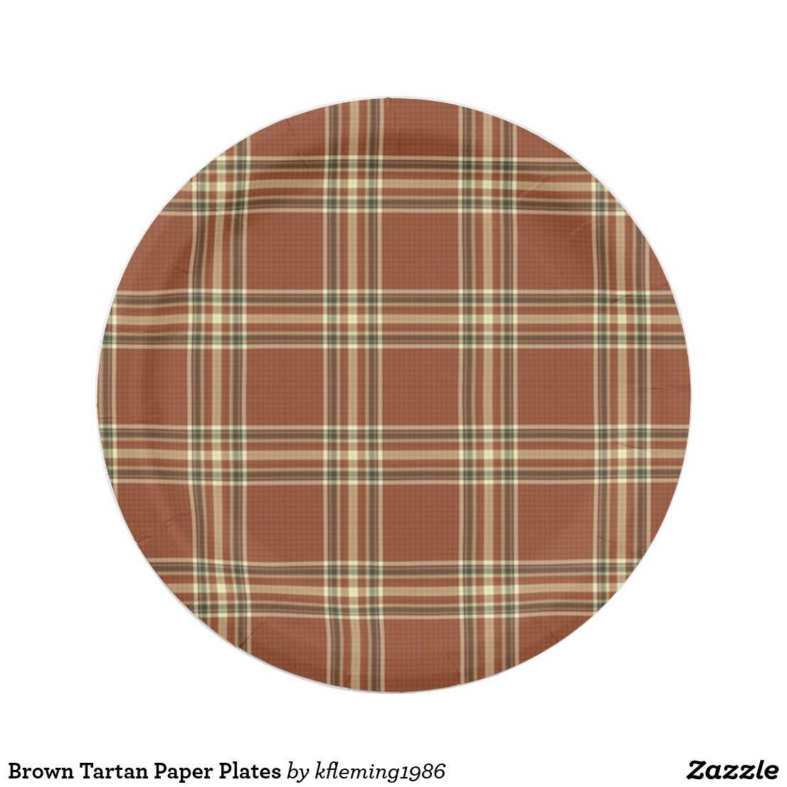 Brown Tartan Paper Plates  sc 1 st  Pinterest & Brown Tartan Paper Plates | Paper Plates | Pinterest