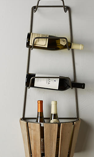wine bushel basket shelf