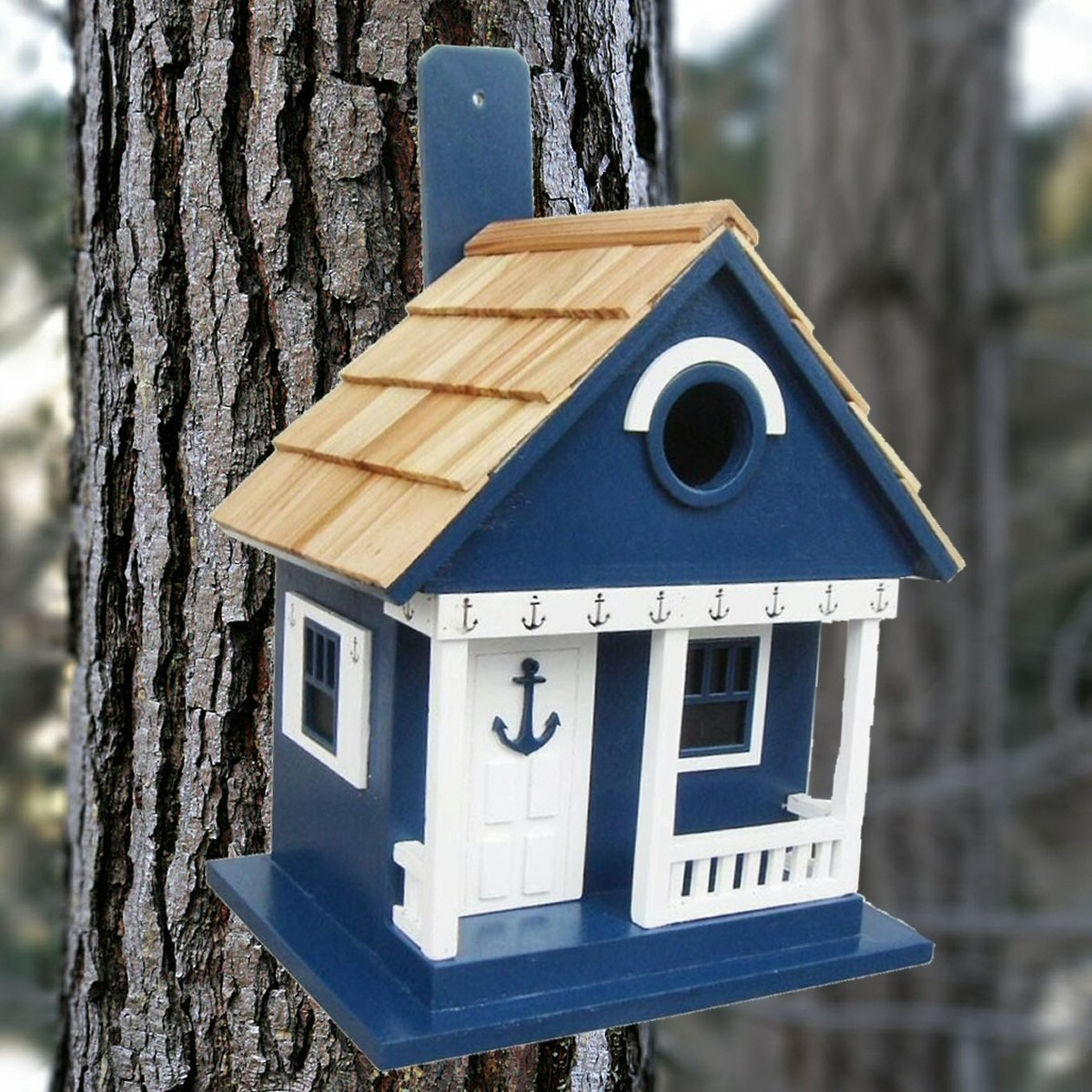 Anchor cottage navy birdhouse bird house kits bird