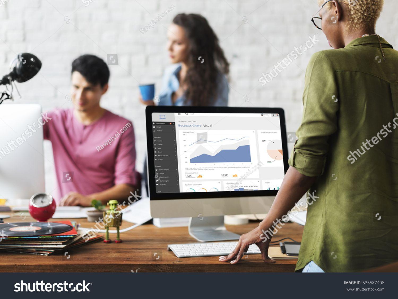Data analytics statistics technology information concept