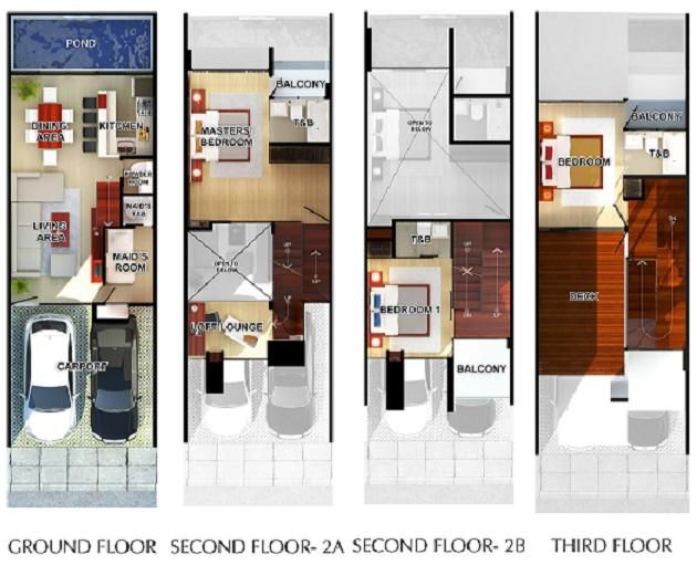 Floor plan dream board pinterest townhouse modern townhouse and modern Modern townhouse plans
