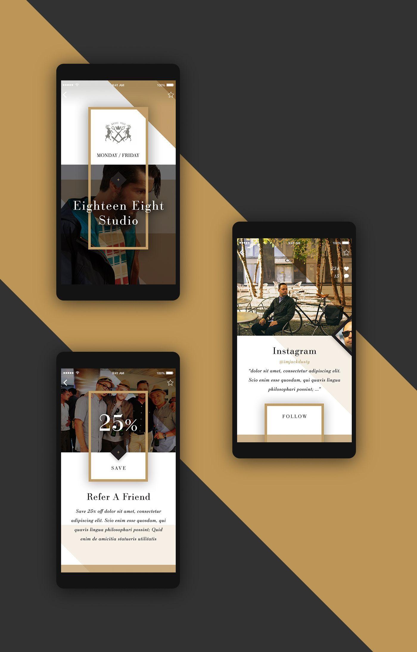 All Gold Evetuthing – Ui design concept for mobile app by Elegant