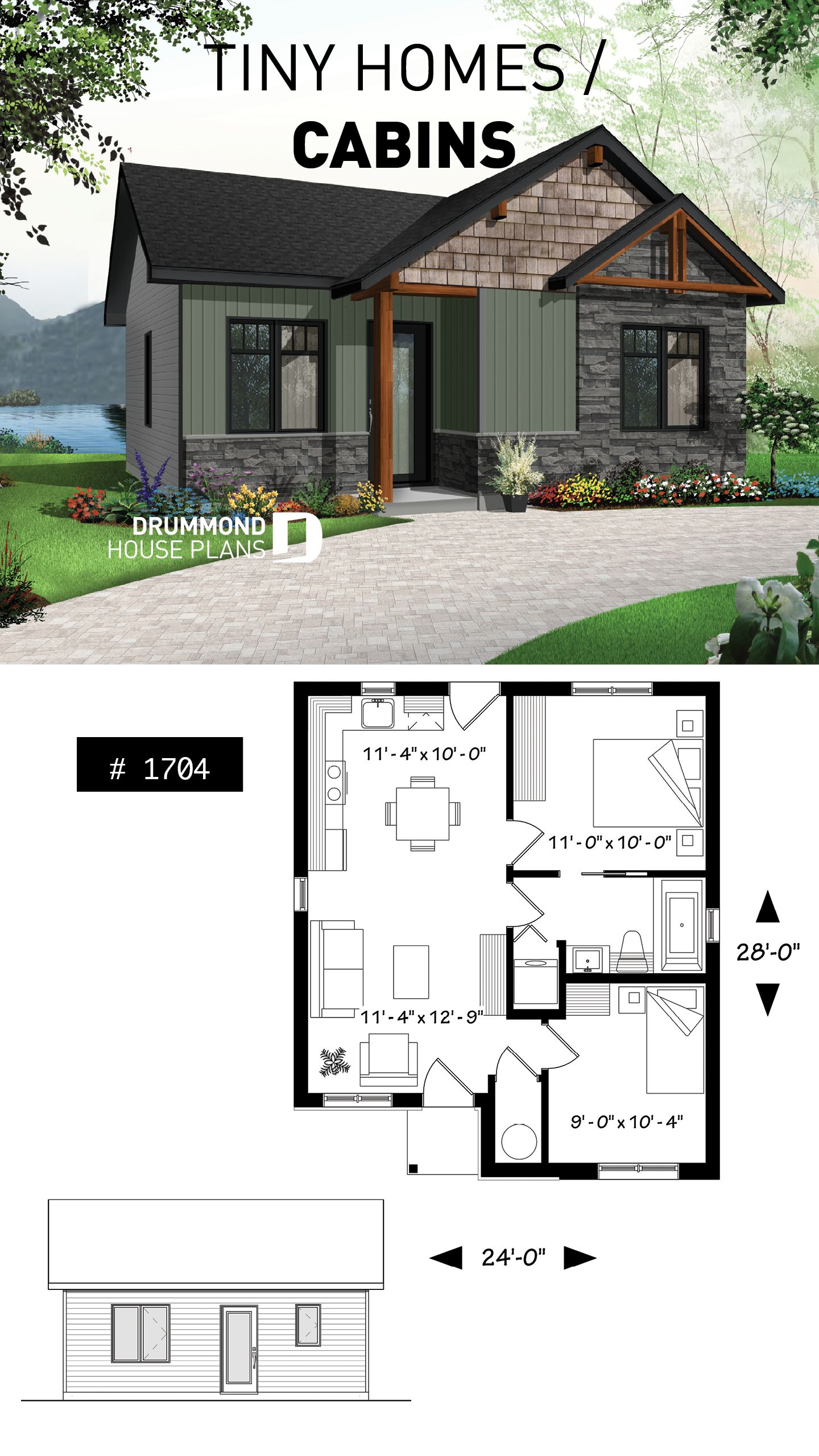 Pin by Dawn Cook on Just because I love it!!!!!! in 2019 | Tiny house, House  plans, Tiny house plans