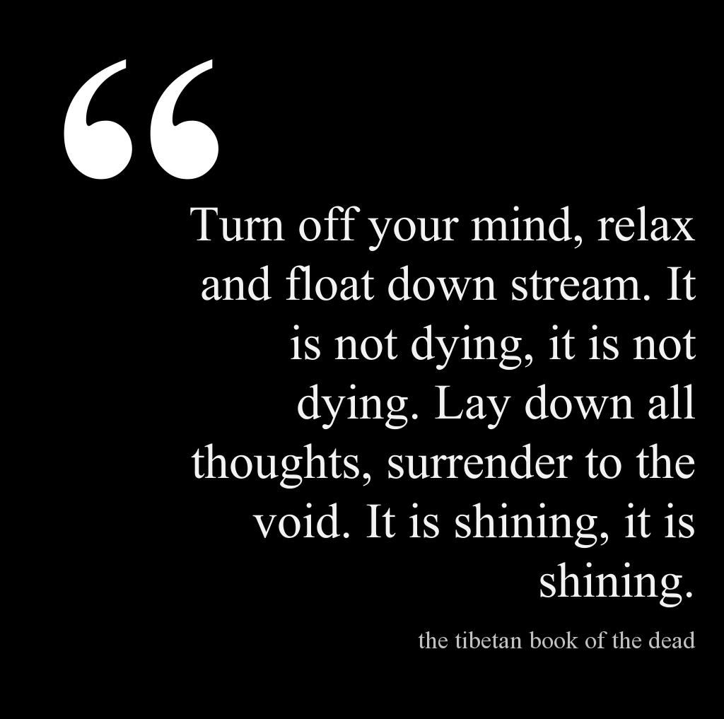 tibetan book of the dead turn off your mind