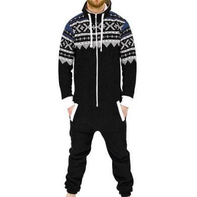 0ba9bef5ce SkylineWears Men s Onesie Jumpsuit one Piece non Footed Pajamas ...