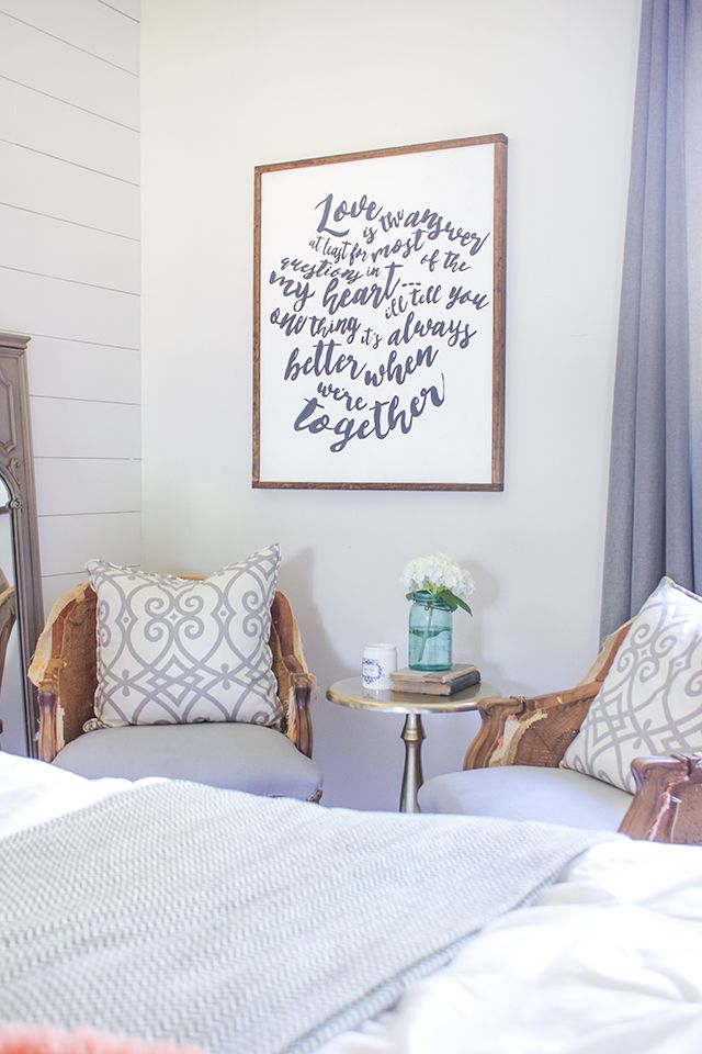 DIY Wood-Framed Word Art Master Bedroom Pinterest Framed - how to make a sign in sheet in word