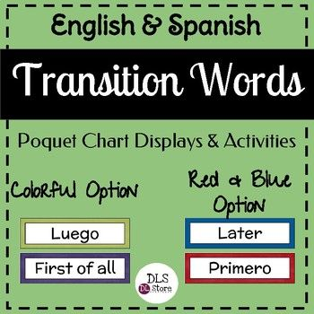 transition words in spanish and english