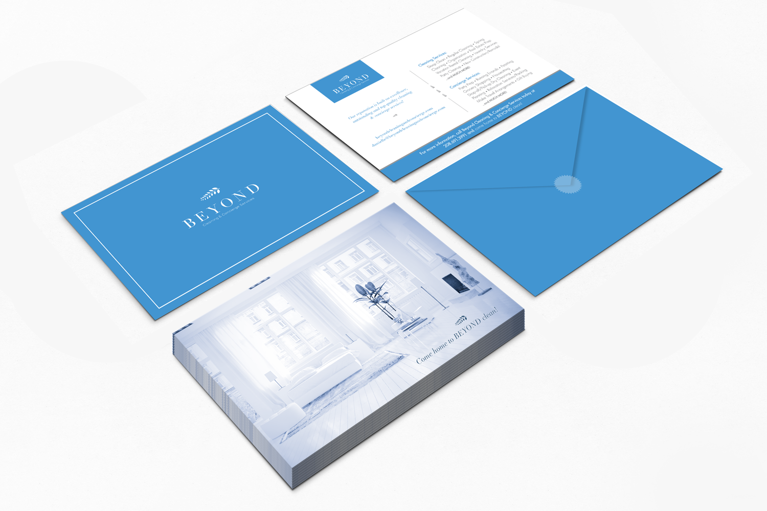 Beyond Cleaning Concierge Services Brand Identity Design Flyers Brand Identity Design Branding Logo Design
