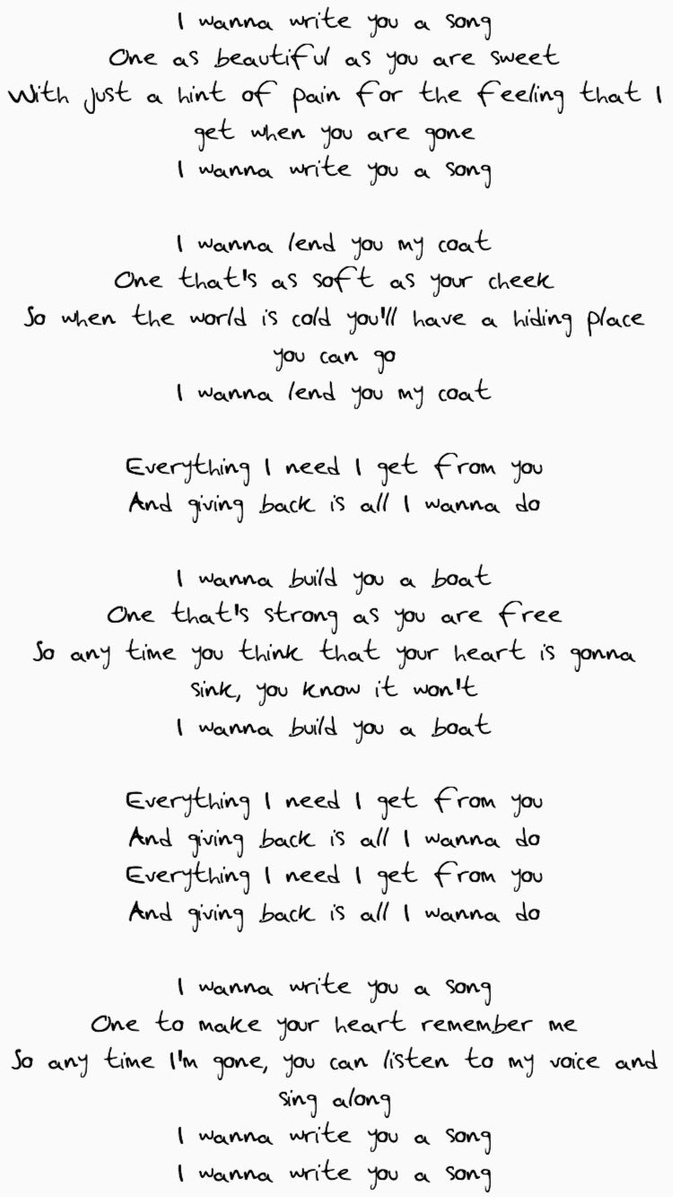 I want to do everything for you lyrics