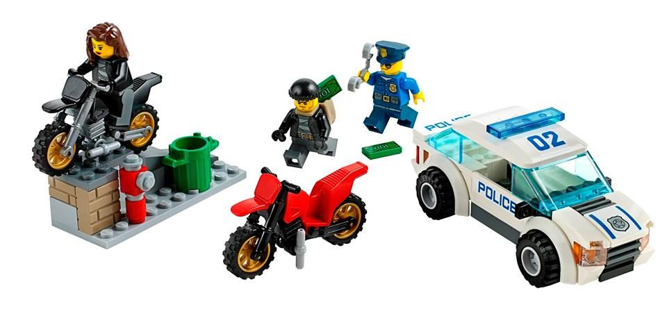 Lego Lot Of Three Wheeled Minifigure Vehicles Police ATV Cars Off Road City