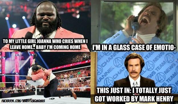 Stay classy, Mark Henry. #WWE   Wwe funny, Wrestling memes ...
