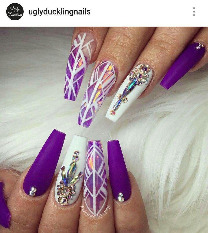 Pinterest: Nail Design | uñas | Pinterest | Purple nail, Nail nail ...