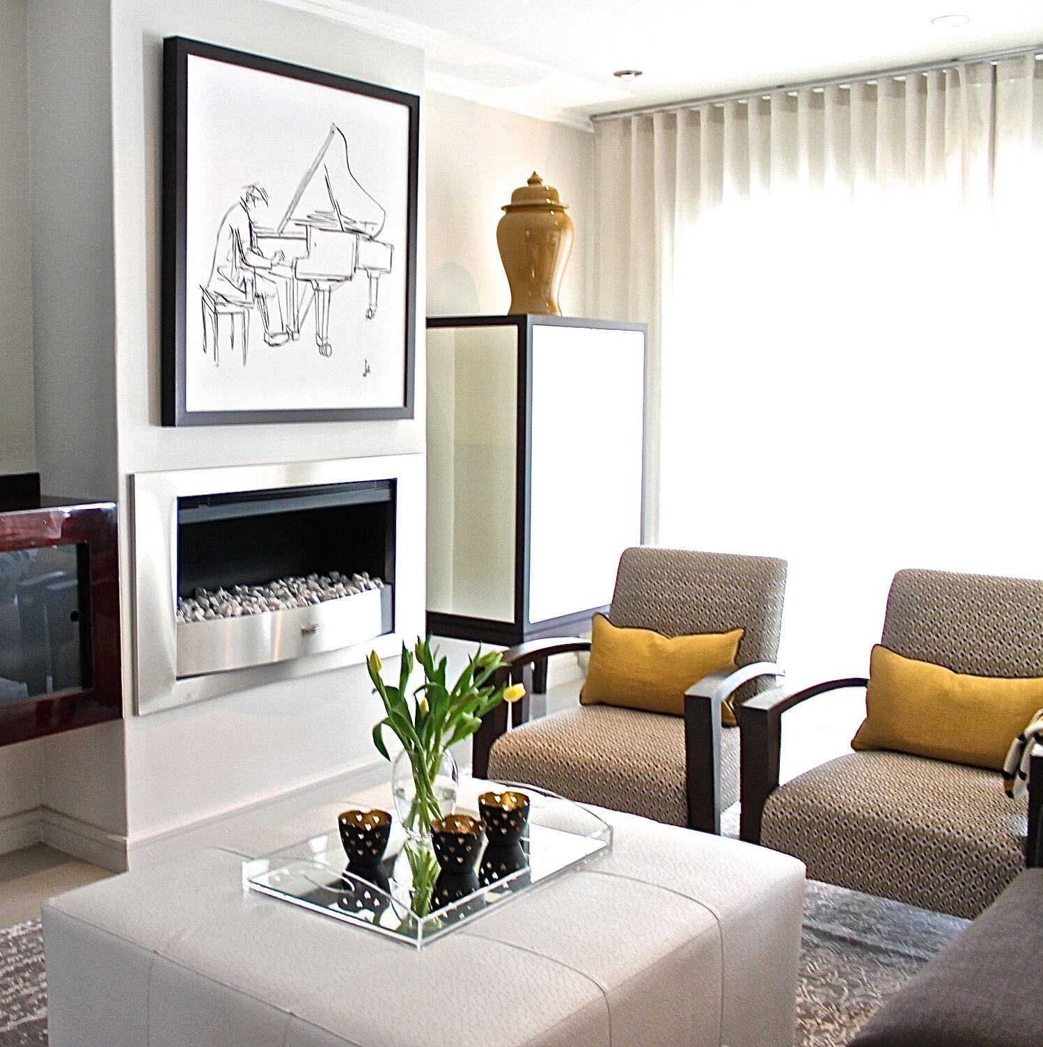 Gorgeous chrome fireplace
