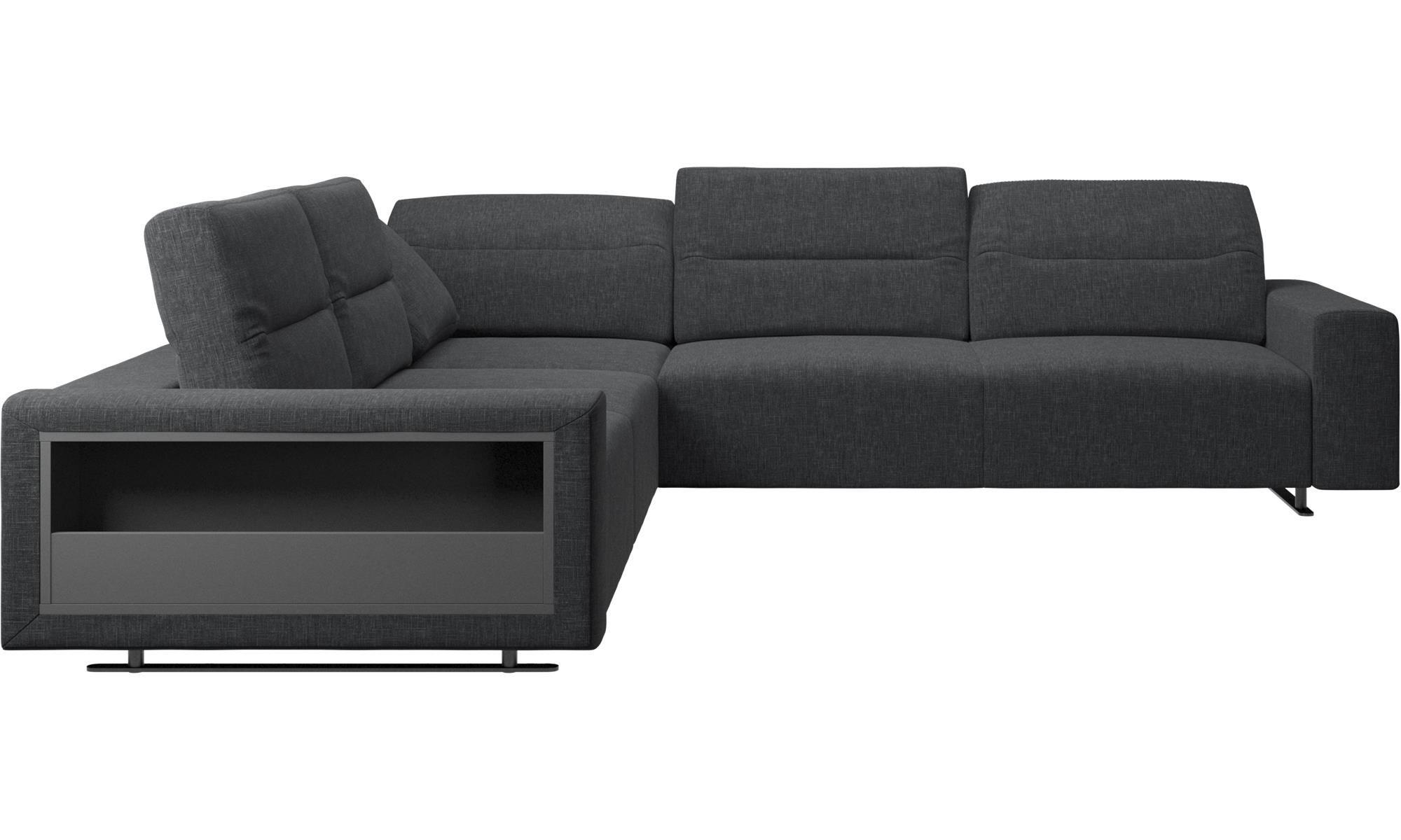 Hampton Corner Sofa With Adjustable Back And Storage On Left Side Corner Sofa Corner Sofa Living Room Loft Furniture