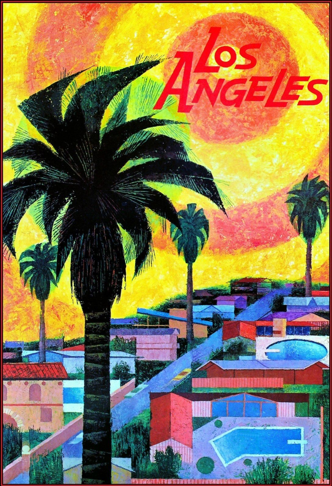 Vintage Los Angeles Travel Poster Living In Los Angeles - Los angeles posters vintage