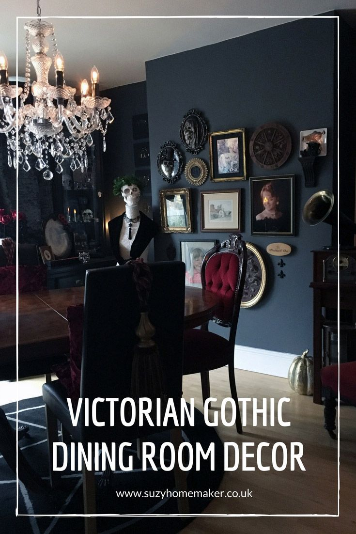 victorian gothic dining room decor fall halloween pinterest