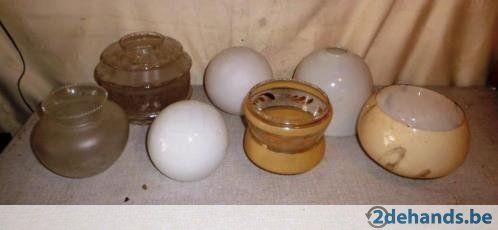 Mooi Partij van 16 verschillende antieke Lampenkappen - Te koop