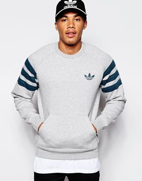 Adidas Originals Fitted Sweatshirt Ab7518 Mens Sweatshirts Mens Sweatshirts Hoodie Workout Sweatshirt