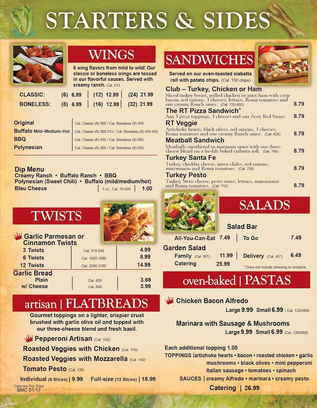 Round Table Pizza Richland Menu