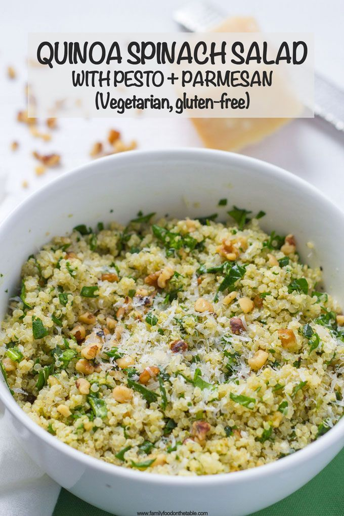 Photo of Quinoa spinach salad with pesto (+ video) – Family Food on the Table