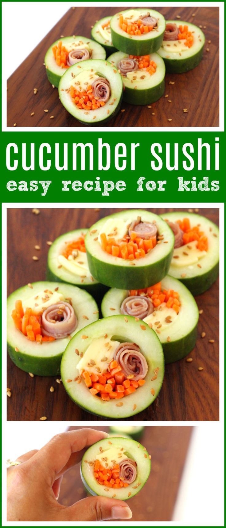 Kid Friendly Cucumber Sushi For Back To School Food Blog