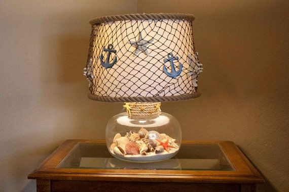 Nautical lamp shade by grayeminencedesign on etsy diy crafts nautical lamp shade by grayeminencedesign on etsy aloadofball Choice Image