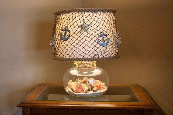Nautical Lamp Shade By Grayeminencedesign On Etsy Diy