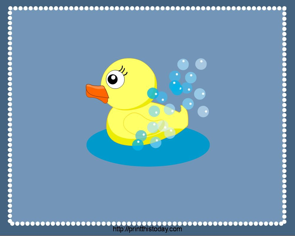Free Printable Duck Clip Art | PlaceMats to print featuring Rubber ...