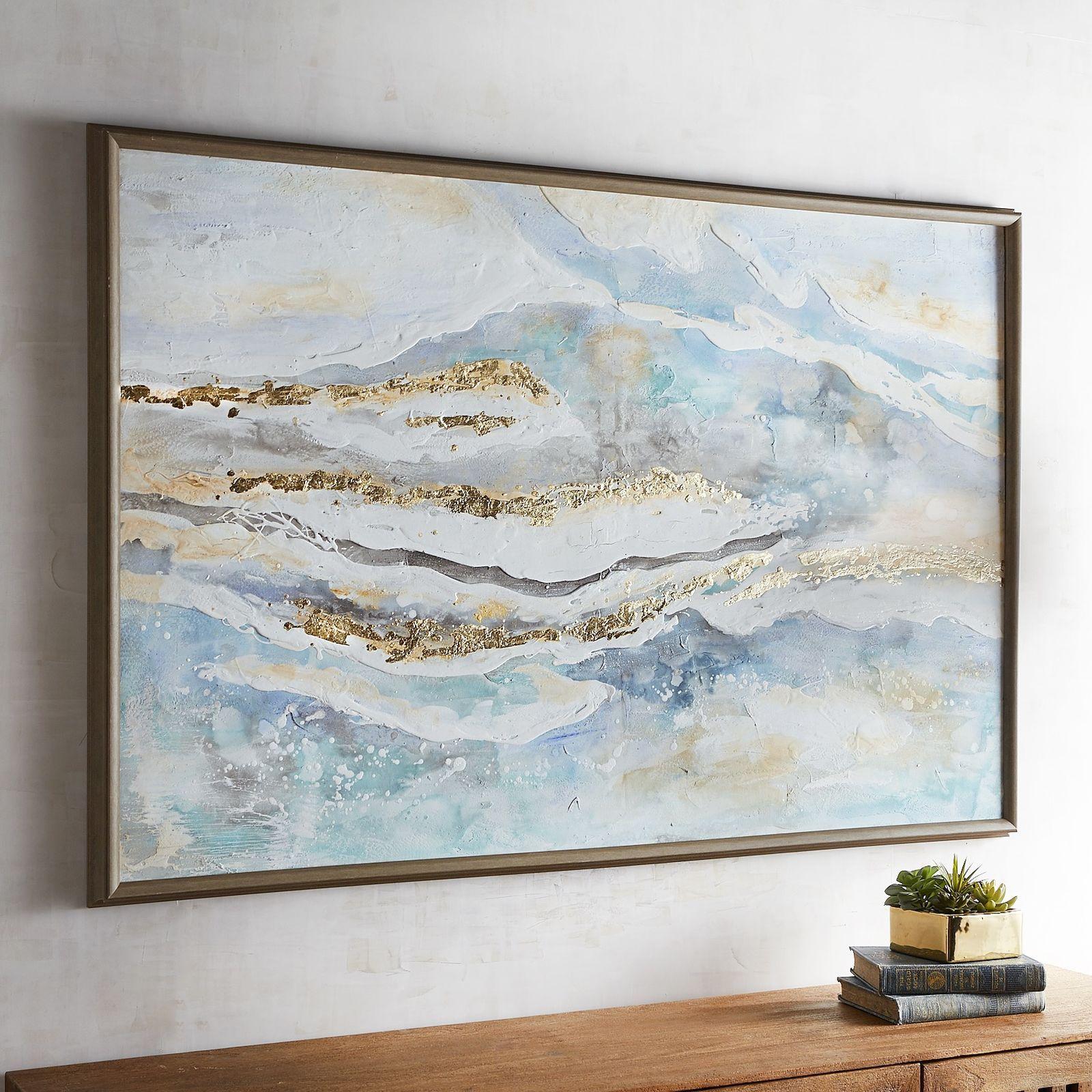 Coastal Whisper Abstract Framed Art   Coastal wall art, Watercolor ...