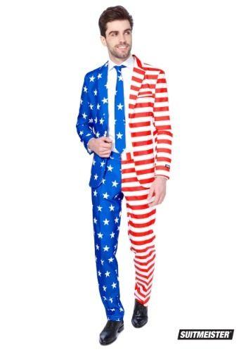 Men S Usa Suitmeister Suit Usa Men Suit Suit And Tie Suits Usa American Flag Suit