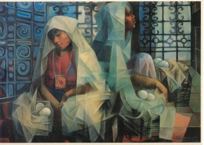 By Vicente Manansala Philippine Art Filipino Art Painting