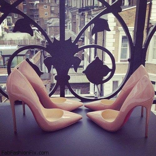 Love for nude color pointed heels